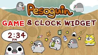 Pesoguin Clock Widget (watch)